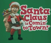 Santa Clause Is Coming To Town Logo Shirts