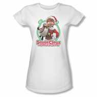 Santa Clause Shirt Juniors Penguin Pal White T-Shirt