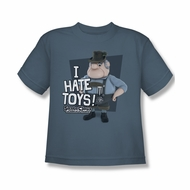Santa Clause Shirt Kids I Hate Toys Slate T-Shirt