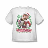 Santa Clause Shirt Kids Penguin Pal White T-Shirt