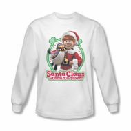 Santa Clause Shirt Penguin Pal Long Sleeve White Tee T-Shirt