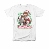 Santa Clause Shirt Penguin Pal White T-Shirt