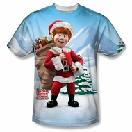 Santa Clause Shirt Santa's Helper Sublimation Shirt