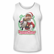 Santa Clause Shirt Tank Top Penguin Pal White Tanktop