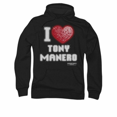 Saturday Night Fever Hoodie Sweatshirt I Heart Tony Black Adult Hoody Sweat Shirt