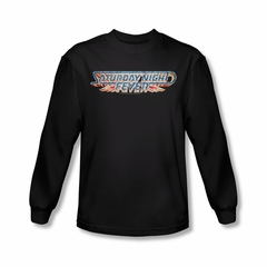 Saturday Night Fever Shirt Logo Long Sleeve Black Tee T-Shirt