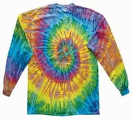 Saturn Tie Dye Shirt Groovy Long Sleeve Tee Shirt
