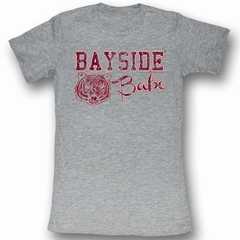 Saved By The Bell Juniors Shirt Bayside Baby Heather Grey Tee T-Shirt