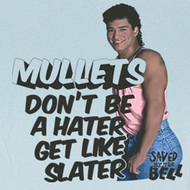Saved By The Bell Juniors Shirt Slater Hater Light Blue Tee Shirt