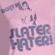 Saved By The Bell Juniors Shirt Slater Hater Pink Tee T-Shirt