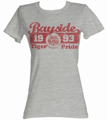 Saved By The Bell Juniors Shirt Tiger Pride Grey Tee T-Shirt