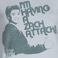 Saved By The Bell Juniors Shirt Zach Attack Silver Tee T-Shirt