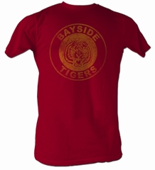 Saved By The Bell Shirt Bayside Logo Adult Burgundy Heather T-Shirt
