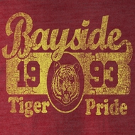 Saved By The Bell Shirt Bayside Pride Adult Burgundy Heather T-Shirt