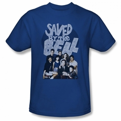 Saved By The Bell Shirt Cast Royal Blue T-Shirt