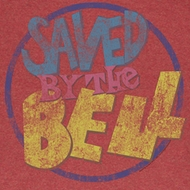 Saved By The Bell Shirt Distressed Logo Adult Red Heather Tee T-Shirt