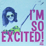 Saved By The Bell Shirt Im So Exited Adult Sky Blue Tee T-Shirt
