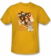 Saved By The Bell Shirt It's All Right Adult Gold Tee T-Shirt