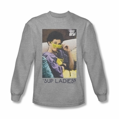 Saved By The Bell Shirt Sup Long Sleeve Athletic Heather T-Shirt
