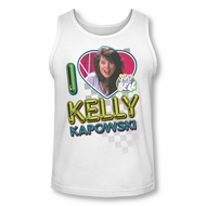 Saved By The Bell Shirt Tank Top Kelly White Tanktop