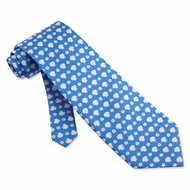 Scallops Sand Dollars Tie Blue Silk Necktie Mens Occupational Neck Tie