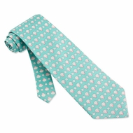 Scallops Sand Dollars Tie Green Necktie - Mens Occupational Neck Tie