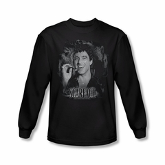 Scarface Hoodie Sweatshirt Smokey Scar Black Adult Hoody Sweat Shirt