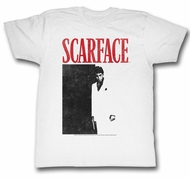 Scarface Shirt Black And Red Adult White Tee T-Shirt