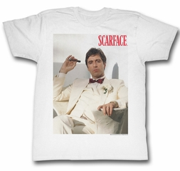 Scarface Shirt Chillin Adult White Tee T-Shirt