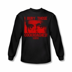 Scarface Shirt Cockroaches Long Sleeve Black Tee T-Shirt