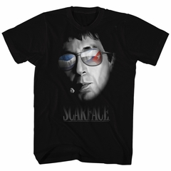 Scarface Shirt Cuban Aviators Black T-Shirt