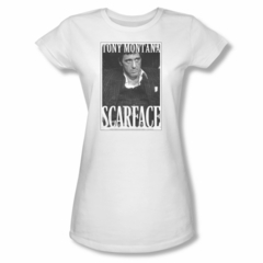 Scarface Shirt Juniors Business Face White Tee T-Shirt