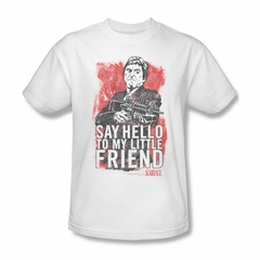 Scarface Shirt Little Friend Adult White Tee T-Shirt
