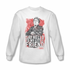 Scarface Shirt Little Friend Long Sleeve White Tee T-Shirt