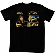 Scarface Shirt Money Power Respect Black T-Shirt