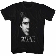 Scarface Shirt Red Eyes Black T-Shirt