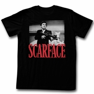 Scarface Shirt Shooting Black and White Black T-Shirt