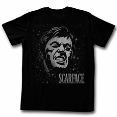 Scarface Shirt Space Face Black T-Shirt