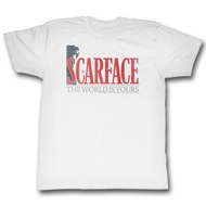 Scarface Shirt The World Is Yours White T-Shirt
