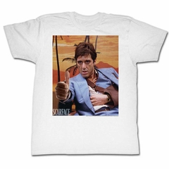 Scarface Shirt Thumbs Up White T-Shirt