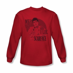 Scarface Shirt Truth Long Sleeve Red Tee T-Shirt