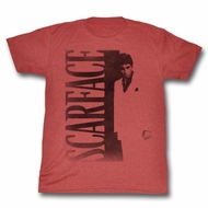 Scarface Shirt Vertical Logo Red T-Shirt