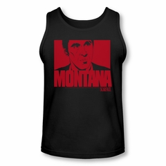 Scarface  Tank Top Montana Face Black Tanktop