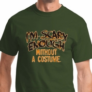 Scary Enough Mens Halloween Shirts