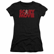 Scary Movie  Juniors Shirt Logo Black T-Shirt