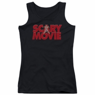 Scary Movie  Juniors Tank Top Logo Black Tanktop