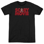 Scary Movie  Logo Black Ringer Shirt