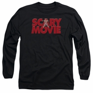 Scary Movie  Long Sleeve Shirt Logo Black Tee T-Shirt