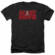 Scary Movie Shirt Logo Heather Black T-Shirt