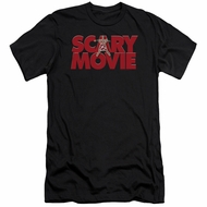 Scary Movie  Slim Fit Shirt Logo Black T-Shirt